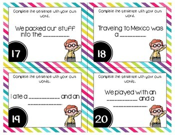 Using Articles (a, an, the) Grammar Task Cards, Games, and Centers