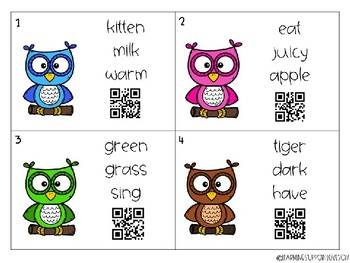 Adjective Identification QR Code Scoot