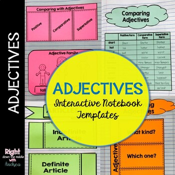 Adjectives Interactive Notebook Templates
