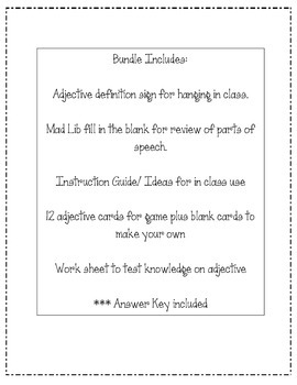 Adjective Lesson Bundle