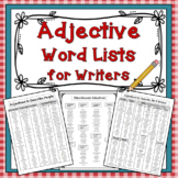 Adjective Word Lists for Writers