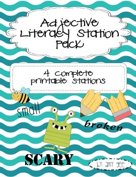 Adjective Literacy Station Pack