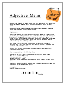 Adjective Menu