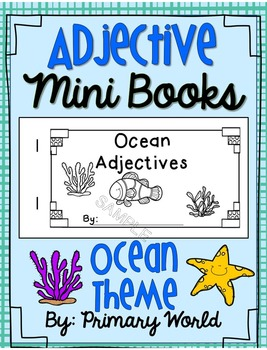 Adjective Mini Book Ocean Theme