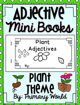 Adjective Mini Books Plant Theme
