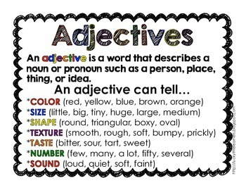 Adjective Mystery Bags