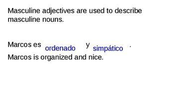 Adjective Notes Slides