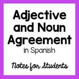 Adjective / Noun Agreement Handout