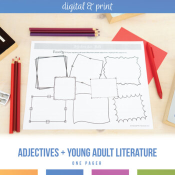 Adjective One Pager and Connection to Young Adult Literature