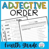 Adjective Order Practice 4th Grade