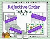 Adjective Order Task Cards