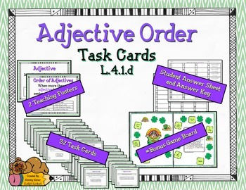 Adjective Order Task Cards