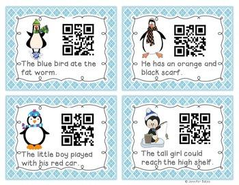 Adjective Penguin QR Code Center