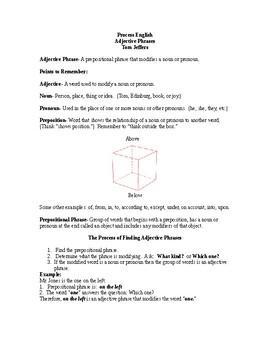 Adjective Phrases - Process English