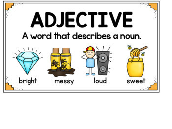 Adjective Picture Cards ~ Adjective Activities