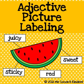 Adjective Picture Labeling