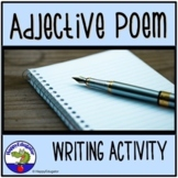 Adjective Poem with Word List for Brainstorming w/ Easel Activity
