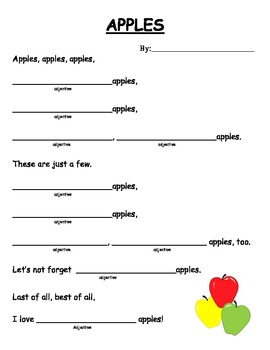 Adjective Poem about Apples