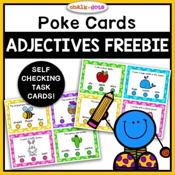 Adjective Poke Cards FREEBIE