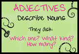 Adjective Poster ~Which One? What Kind? How Many?