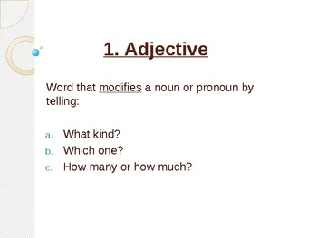 Adjective Power Point Notes