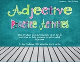 Adjective Practice Activities and Word Cards
