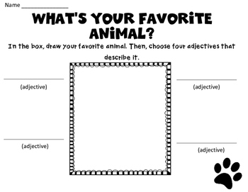 Adjective Practice Pages