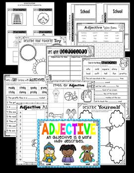 Adjective Worksheets