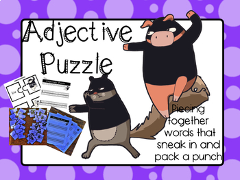 Adjective Puzzle Second and Third Grade