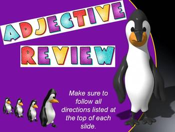 Adjective Review