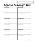 Adjective Scavenger Hunt