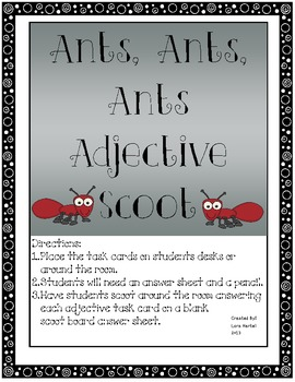 Adjective Scoot with an Ant Theme