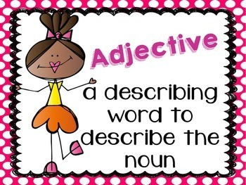 Adjective Scoot/Task Cards + Poster