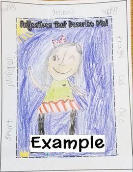 Adjective Self Portraits - Center Activity or Classwork