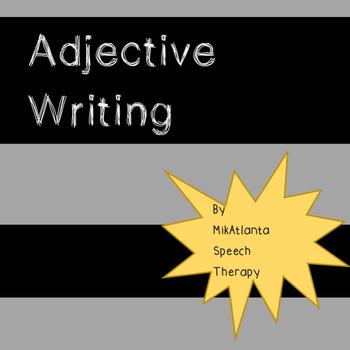 Adjective Sentence Writing FREEBIE {Worksheets}