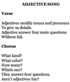 Adjective Song
