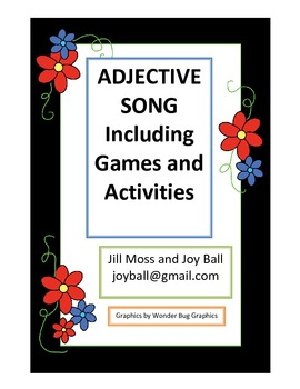 Adjective Song Including Games and Learning Center Activities