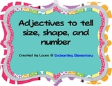 Adjective Sort for Size, Shape, and Number