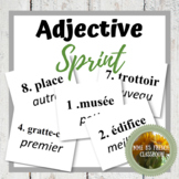 Adjective Sprint: adjectives that go before or after the n