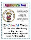 Adjective Suffix Webs