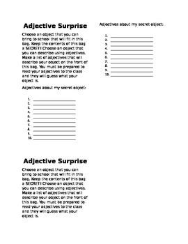 Adjective Surprise