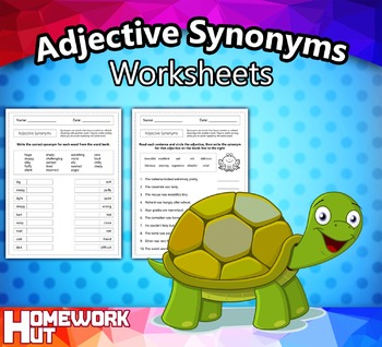 Adjective Synonyms Worksheets