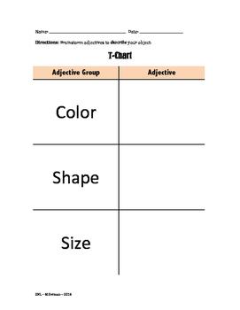Adjective T-Chart