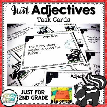 Adjective Task Cards - L.2.1.E