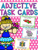Adjective Task Cards - Brainstorming and Sentence Writing