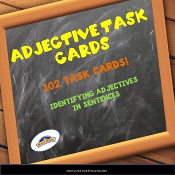 Adjective Task Cards: Grades 3-5