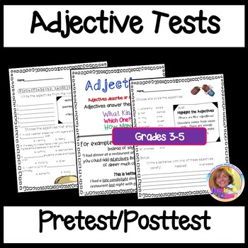 Adjective Pretest, Posttest and Teaching Poster