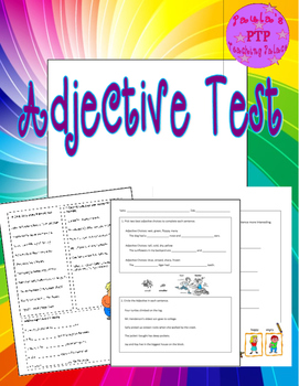 Adjective Tests Grades 3-4