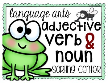 Adjective, Verb and Noun Center and Mini-Anchor Charts