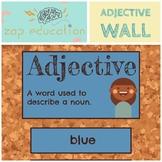 Adjective Wall | Parts of Speech | Grammar Posters |  Adje